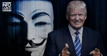 """""""Anonymous"""" paskelbė totalinį karą Donaldui Trumpui"""