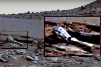 Marse aptikta milžiniška roboto ranka