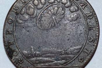 Moneta-žetonas su NSO ženklu