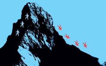Vimperio versija nuo Materhorno kalno