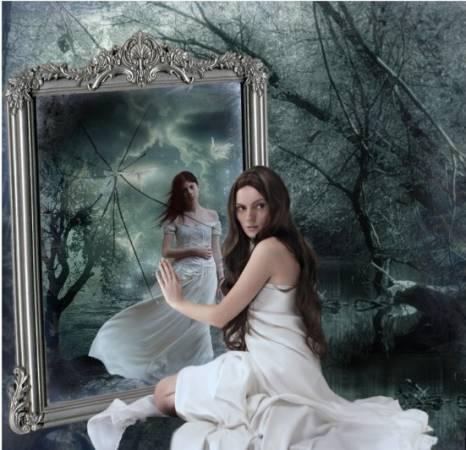 Veidrodiniai atspindžiai ir Moudžio bandymas