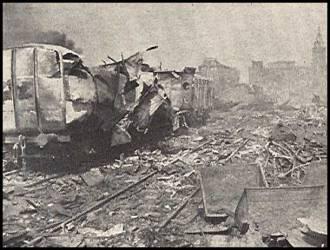 """Anglų krovinininis garlaivis """"Staikino forto"""" po sprogimo"""