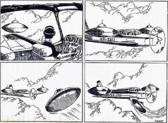 Trys NSO užpuolė meksikieti lakūną 1974 metais