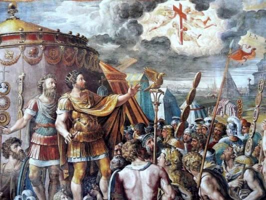 Konstantinas Didysis danguje pamatė šviesas