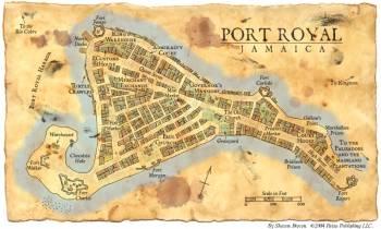 Piratų sostinė Port Rojalis.